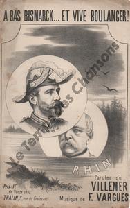 A bas Bismarck … Et vive Boulanger !