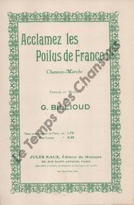 Acclamez les Poilus de France !