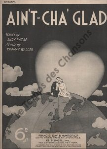 Ain't-cha' glad ?