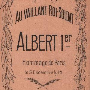 Au vaillant Roi soldat Albert