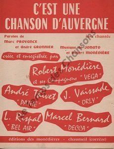 C'est une chanson d'Auvergne