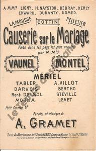Causerie sur le mariage