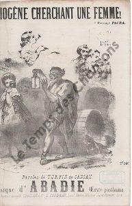 Diogène cherchant une femme ! …