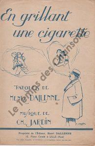 En grillant une cigarette