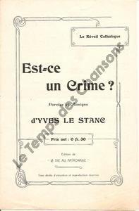 Est-ce un crime ?