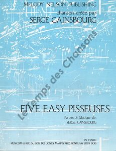 Five easy pisseuses
