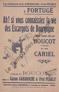 Ah ! si vous connaissiez la vie des escargots de Bourgogne
