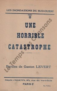 Horrible catastrophe (Une)