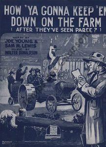 How 'ya gonna keep 'em down on the farm ?