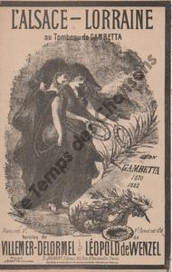 Alsace Lorraine au tombeau de Gambetta (L')