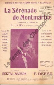 Sérénade de Montmartre (La)