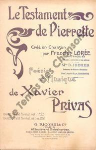 Testament de pierrette (Le)