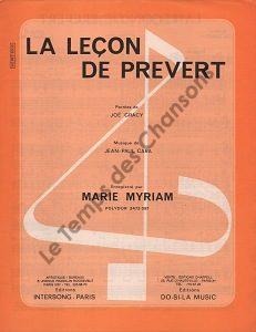 Leçon de Prevert (La)