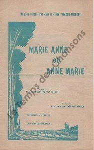 Marie Anne ou Anne Marie