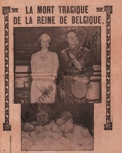Mort tragique de la Reine de Belgique (La)