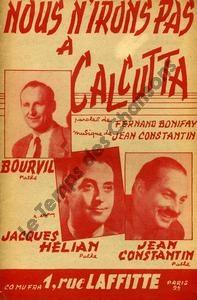 Nous n'irons pas à Calcutta