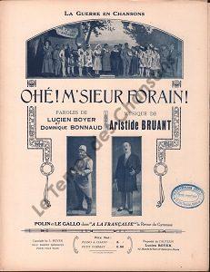 Ohé ! Monsieur Forain !