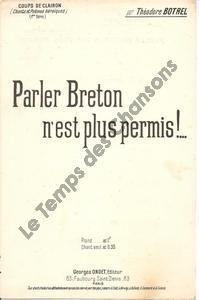 Parler Breton n'est plus permis !