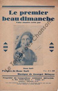 Premier beau Dimanche (Le)
