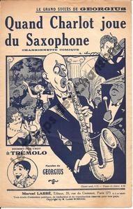Quand Charlot joue du saxophone