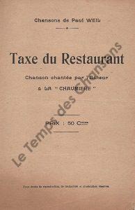 Taxe du restaurant