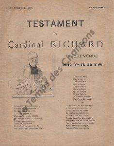 Testament du Cardinal Richard