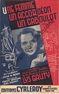 Femme un accordéon un caboulot (Une)