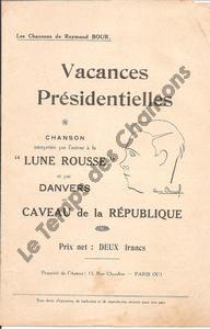 Vacances Présidentielles