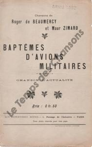 Baptêmes d'avions militaires