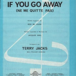 If you go away