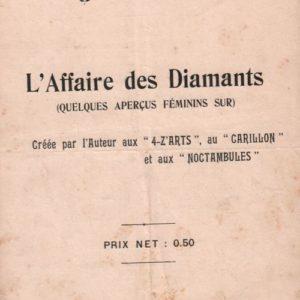 Quelques aperçus féminins sur l'affaires des diamants