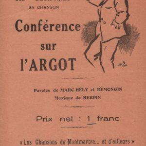 Conférence sur l'Argot