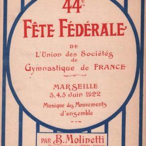Quarante quatrième Fête Fédérale de l'Union des Sociétés de Gymnastique de France