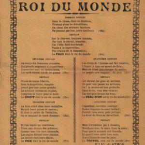 Roi du Monde (Le)