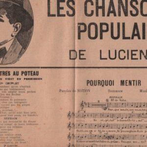 Les chansons Populaires de Lucien