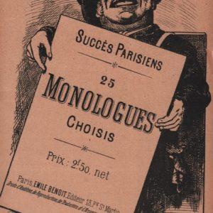 Succès Parisiens 25 Monologues choisis