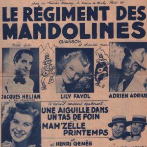 Recueil le régiment des mandolines