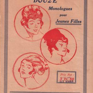 Douze monologues gais pour jeunes filles