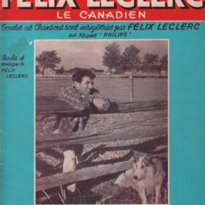Album les chansons de Félix Leclerc le Canadien