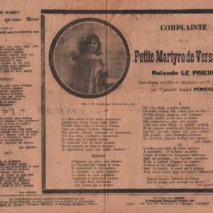 Complainte de la petite martyre de Versailles