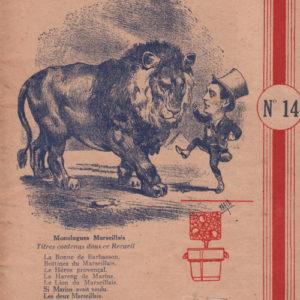 Dix Monologues Marseillais choisis par Honoré Pion numéro quatorze