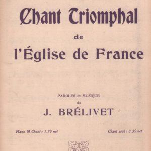 Chant triomphal de l'église de France