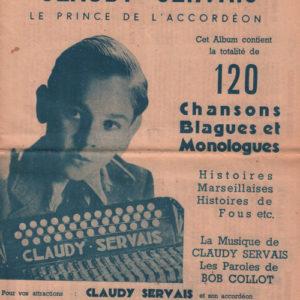 Album Claudy Servais le prince de l'accordéon