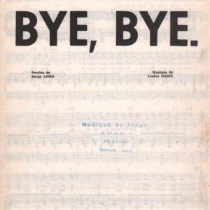 Bye, Bye