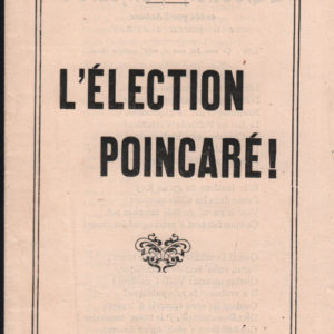 Election Poincaré (L')