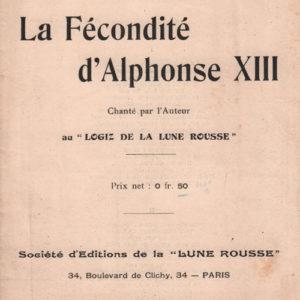 Fécondité d'Alphonse XIII (La)