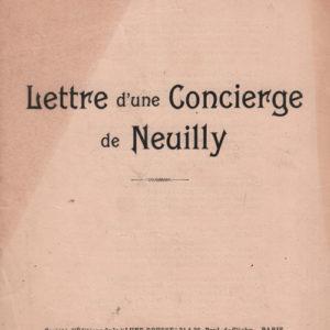 Lettre d'une concierge de Neuilly