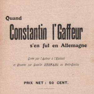 Quand Constantin l'Gaffeur s'en fut en Allemagne