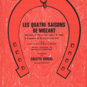 Quatre saisons de Mozart (Les)