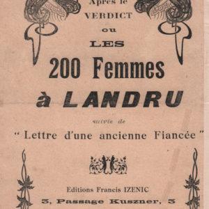 Deux cent femmes à Landru (Les)